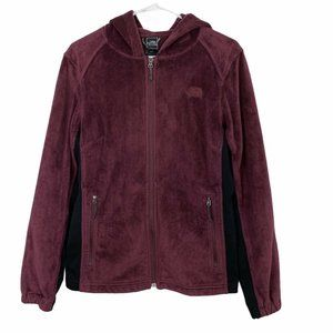 The North Face Velour Burgundy Full Zip Up Hoodie